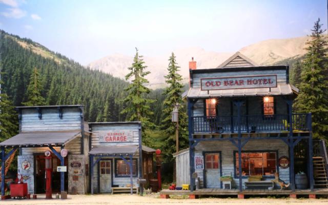 Un diorama US au 1/35 - Un garage et un hôtel quelque part en Oregon Dio_3510