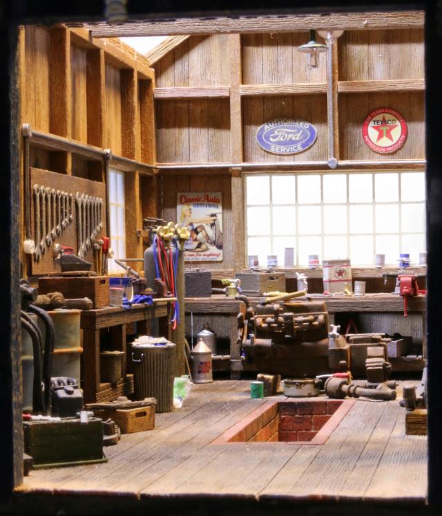 Un diorama US au 1/35 - Un garage et un hôtel quelque part en Oregon Dio_3512