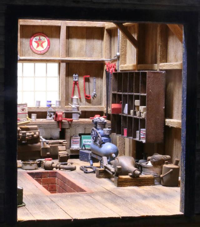 Un diorama US au 1/35 - Un garage et un hôtel quelque part en Oregon Dio_3513