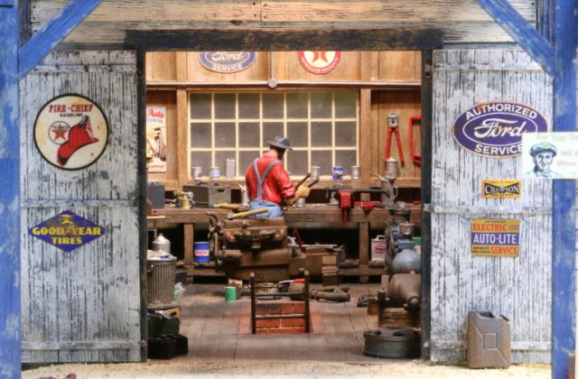 Un diorama US au 1/35 - Un garage et un hôtel quelque part en Oregon Garage13