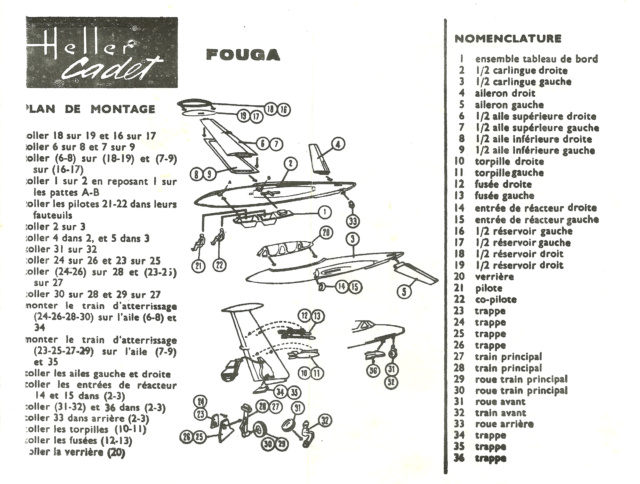 FOUGA CM 170 MAGISTER 1/100ème Réf CADET 005 Fouga_10
