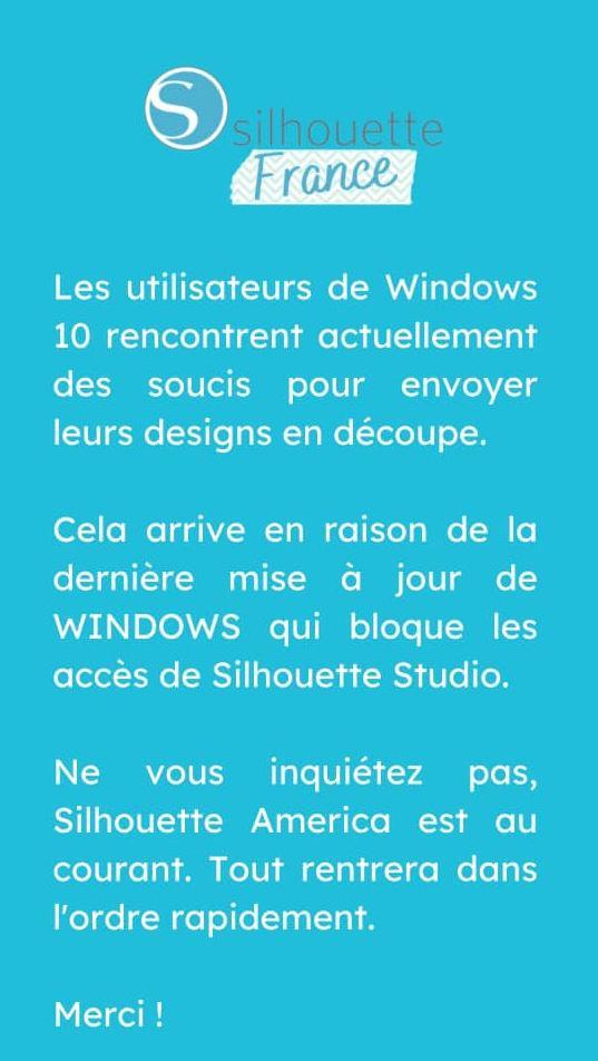 juillet 2021 : Pb MAJ de windows10 et incompatibilté avec Sst Captu111