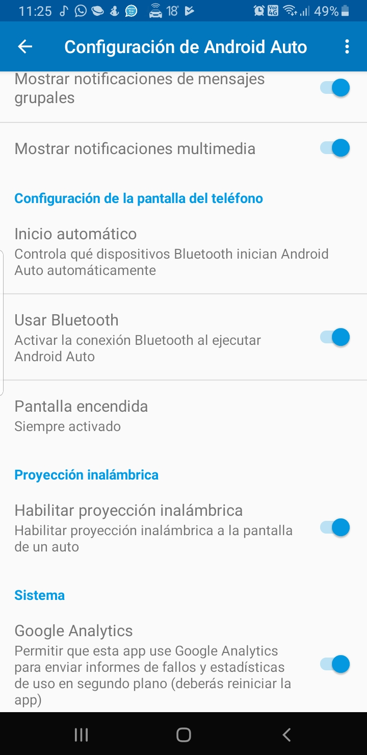 Android Auto inalambrico Screen12