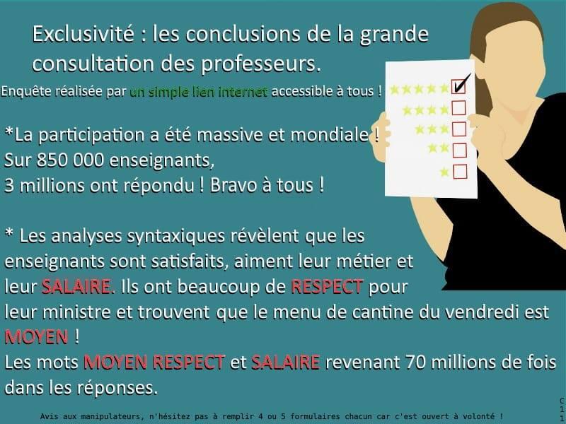 Le ministre Blanquer lance une grande consultation anonyme auprès des enseignants - Page 8 89054110