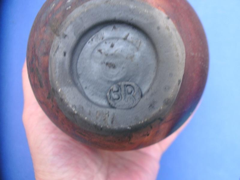 Raku vase by Bryony Rich. Narberth Pottery  Pict0715