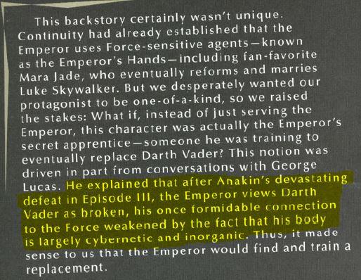 Hayden Blackman on Lucas, Vader vs Anakin Vader_10