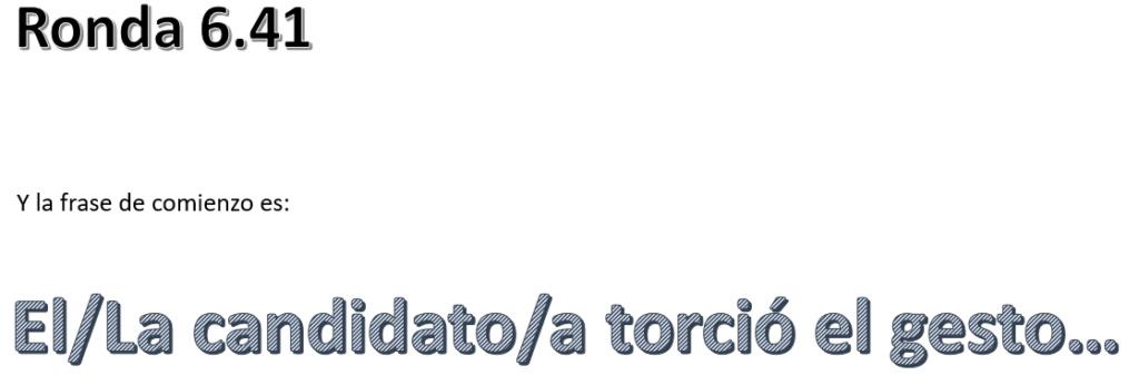 RONDA 6.41 DEL CONCURSO DE MICRORRELATOS. AUTISTA VUELVE A PRINGAR. TOMA EXCEL, MALVADO. Captur90