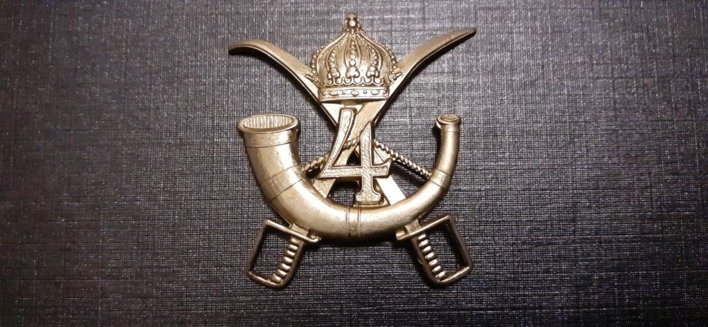 Insigne à identifié sabres couronne impériale cor chiffre 4 15835210