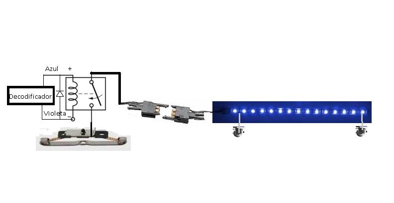 Iluminación convoy desde locomotora Rele_d10