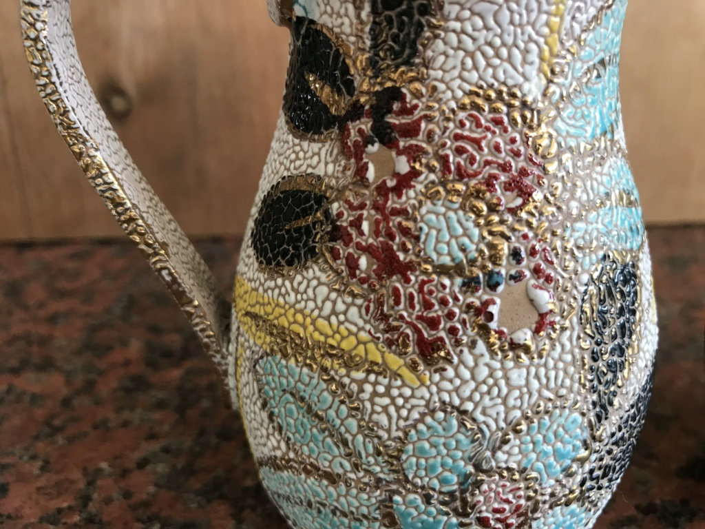 Pair of small decorative jugs, Italian Colorobbia 'Sfuggente' glazed jugs 4760f810
