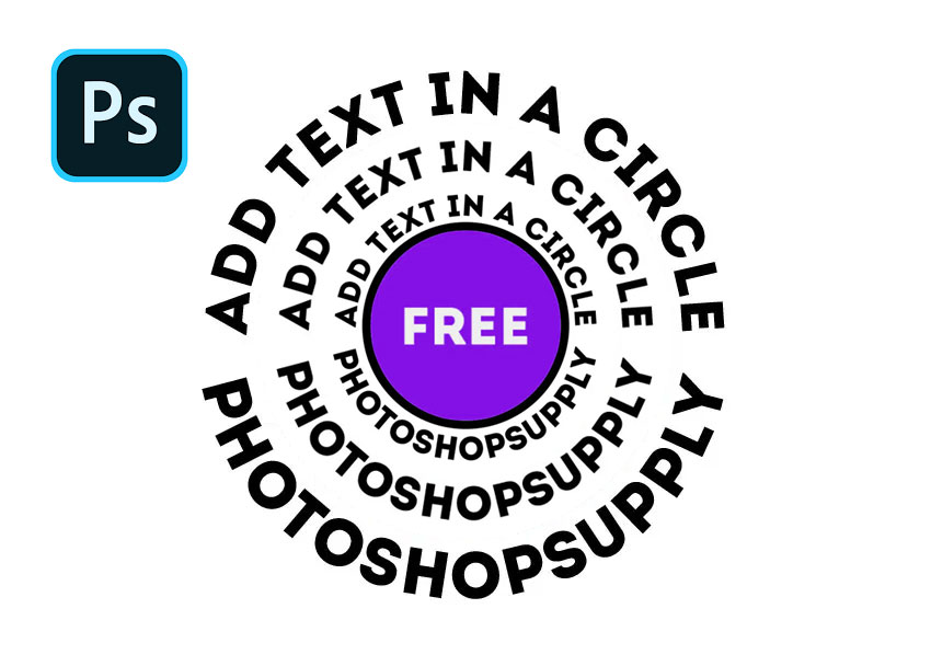 How to curve text in Photoshop? Circle11