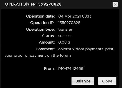 [SCAM] COLORBUX.ONLINE - Membresia SilverBux - Refback 80% - Mínimo 0.02 Recibido pago 2$   Colorb12