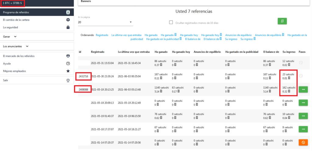 [PAGANDO] ADBTC- Standard- Refback 80% - Mínimo 2000 satoshi Recibido Pago 1$ Referi12