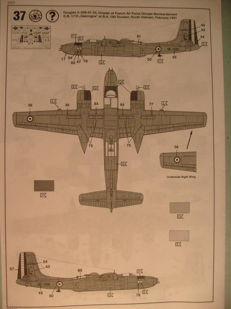 Multi-présentations ITALERI DOUGLAS A 26 C / K INVADER 1/72ème Réf 1259 & 1249 et REVELL DOUGLAS A 26B INVADER 1/72ème Réf 04310 S7300100