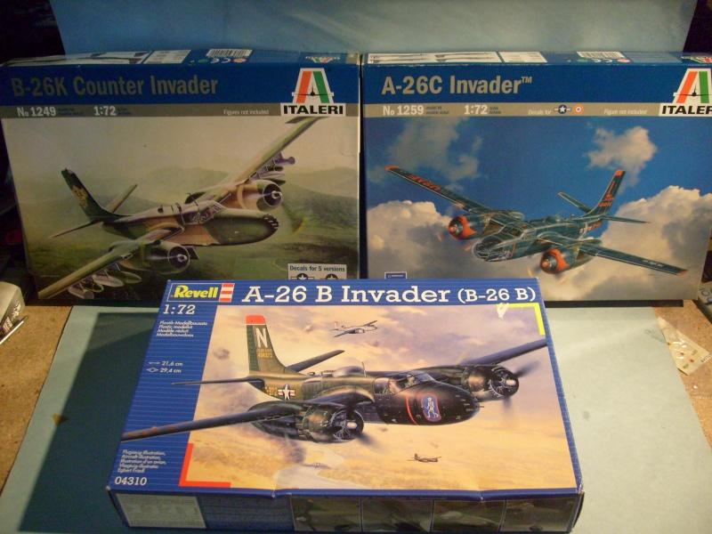 Multi-présentations ITALERI DOUGLAS A 26 C / K INVADER 1/72ème Réf 1259 & 1249 et REVELL DOUGLAS A 26B INVADER 1/72ème Réf 04310 S7300106
