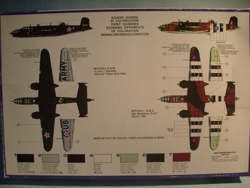 Comparatif NORTH AMERICAN B 25 MITCHELL 1/72ème S7300780
