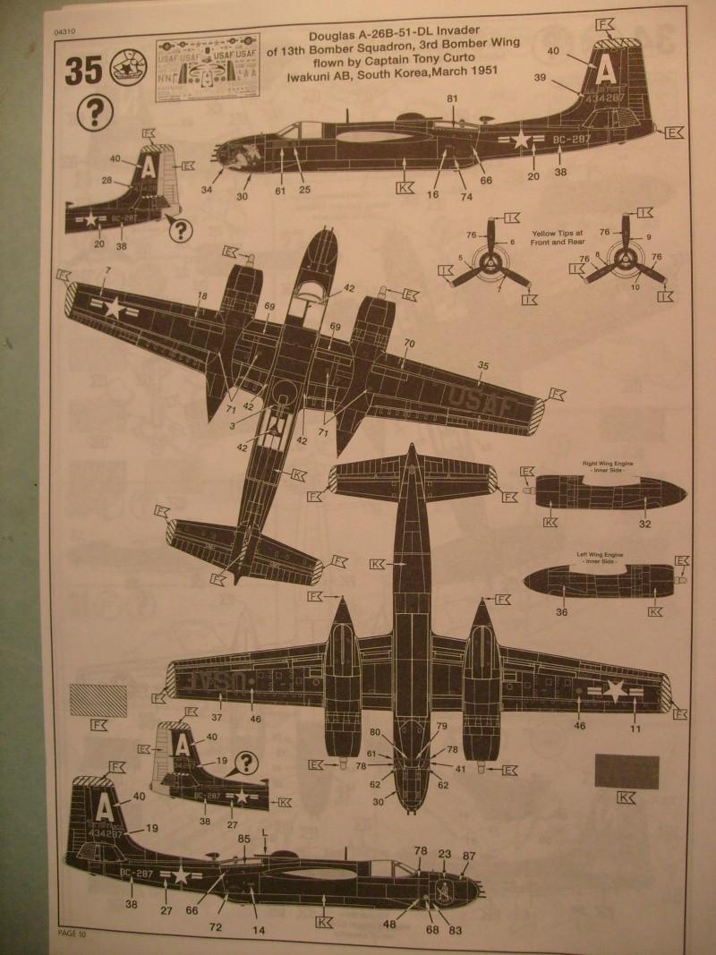 Multi-présentations ITALERI DOUGLAS A 26 C / K INVADER 1/72ème Réf 1259 & 1249 et REVELL DOUGLAS A 26B INVADER 1/72ème Réf 04310 S7300898