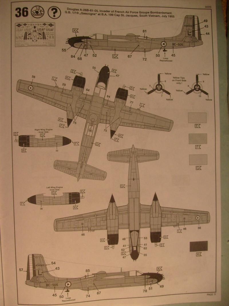 Multi-présentations ITALERI DOUGLAS A 26 C / K INVADER 1/72ème Réf 1259 & 1249 et REVELL DOUGLAS A 26B INVADER 1/72ème Réf 04310 S7300899