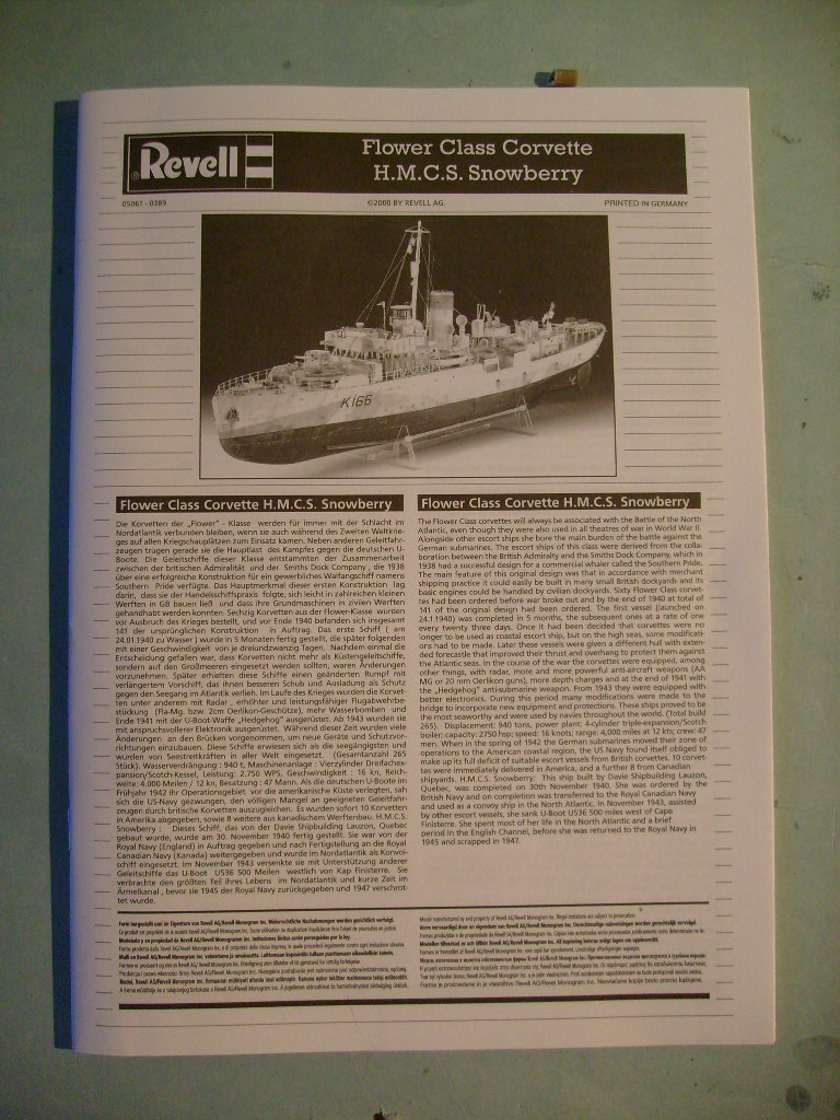 [REVELL ex Matchbbox] HMCS Corvette Snowberry  S7302395