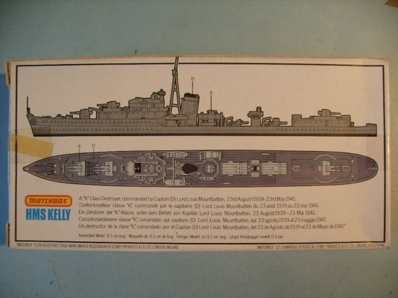 [MATCHBOX] Destroyer HMS KELLY 1/700ème Réf PK64 S7302454