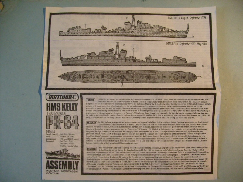 [MATCHBOX] Destroyer HMS KELLY 1/700ème Réf PK64 S7302458
