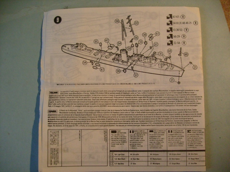 [MATCHBOX] Destroyer HMS KELLY 1/700ème Réf PK64 S7302461
