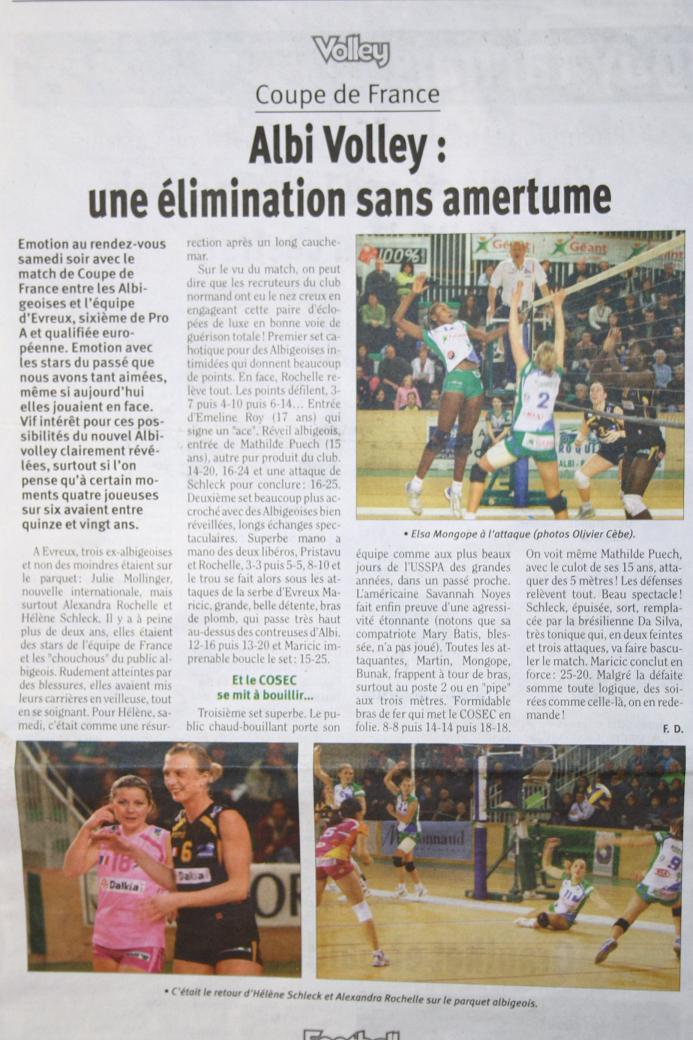 1/8ème de finale de la Coupe de France USSPA-Evreux Articl10