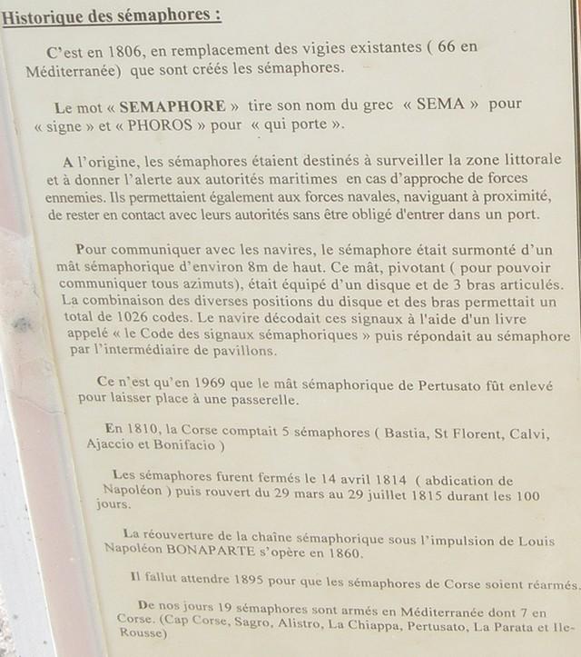 [ Les sémaphores - divers ] Les sémaphores en Corse vus par Corse Matin 411