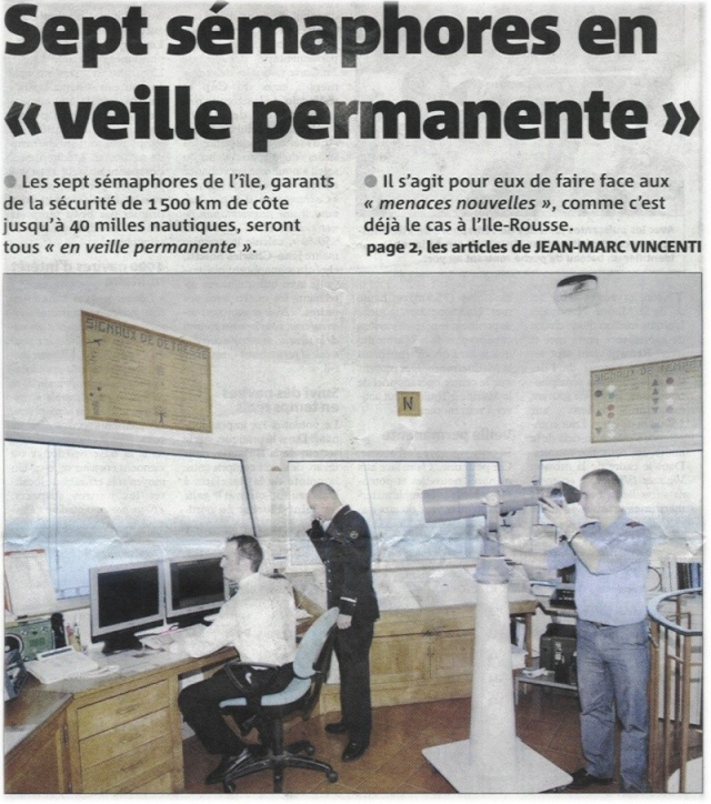 [ Les sémaphores - divers ] Les sémaphores en Corse vus par Corse Matin Articl10