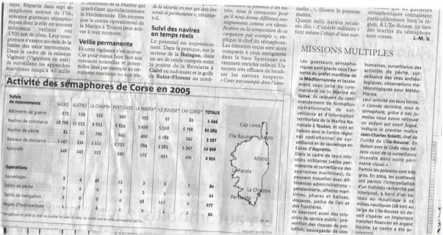 [ Les sémaphores - divers ] Les sémaphores en Corse vus par Corse Matin Articl13
