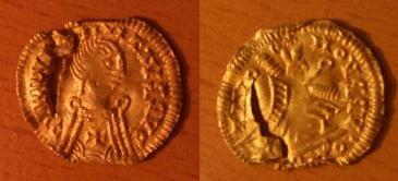 Triente Visigodo a nombre de Justiniano I Foto10