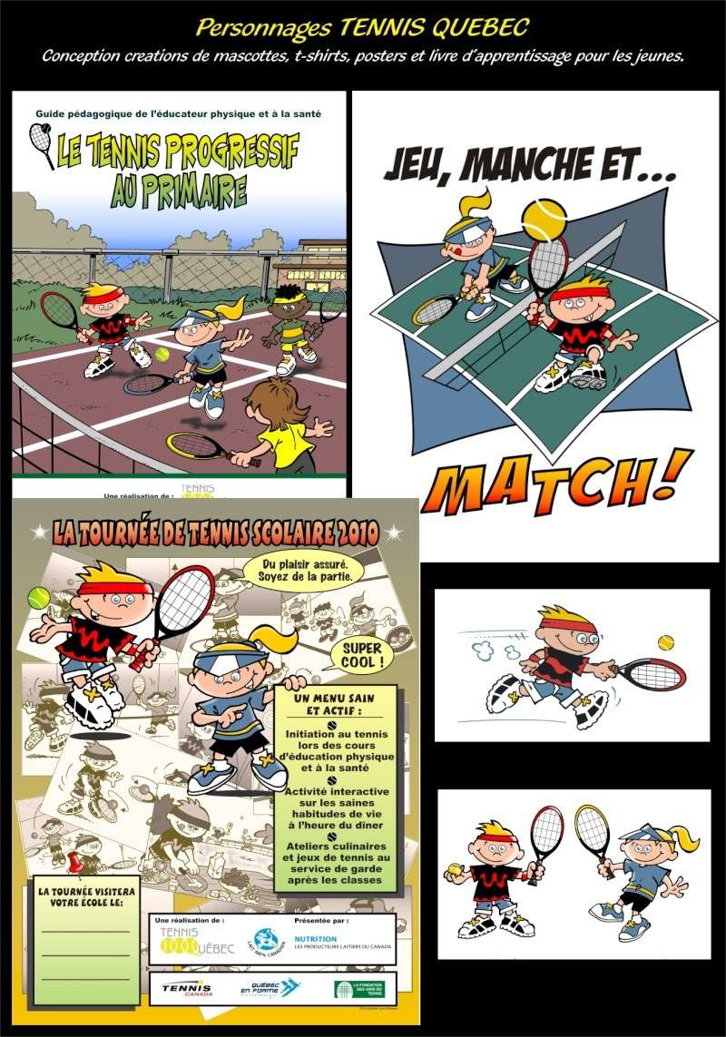 C-PARUTIONS MAGAZINES, CONCEPTIONS PERSONNAGES Tennis10