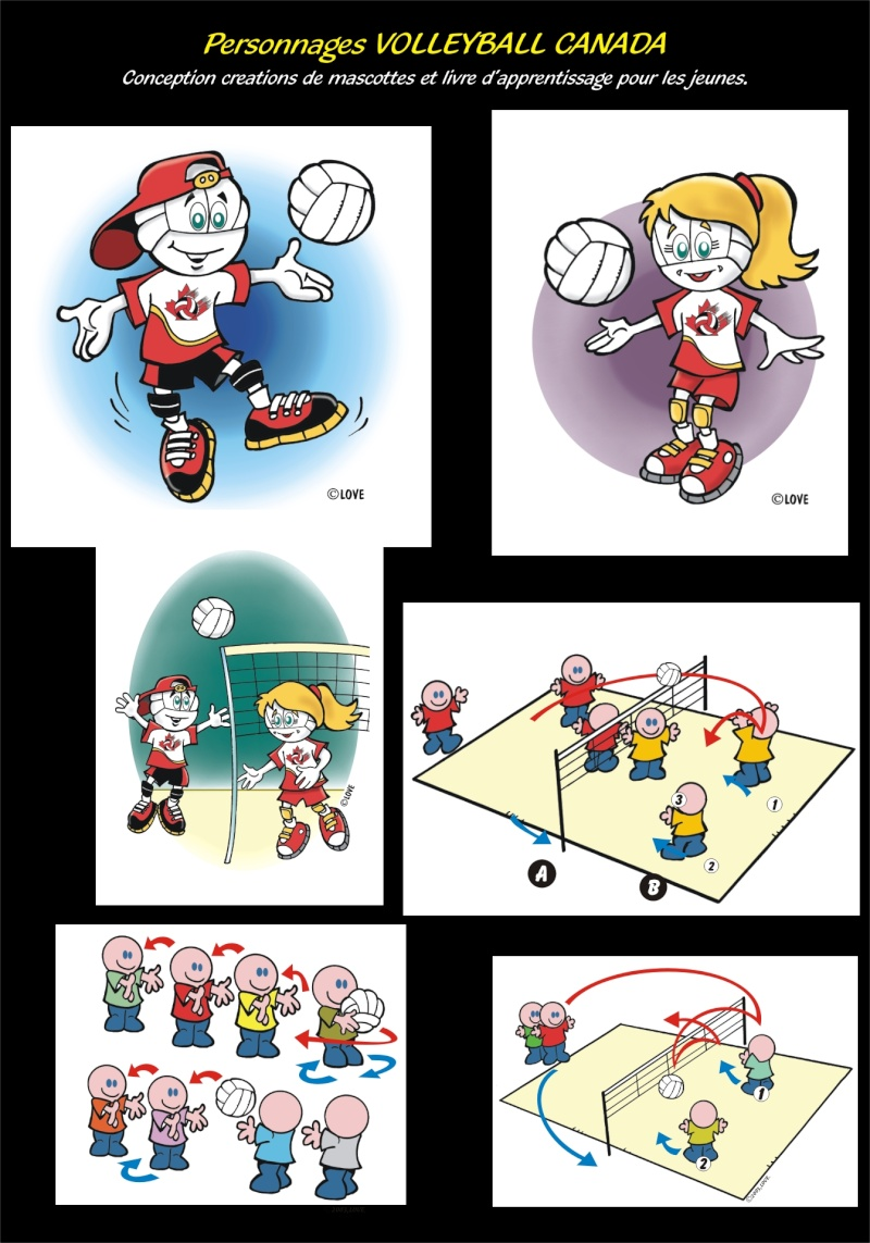 C-PARUTIONS MAGAZINES, CONCEPTIONS PERSONNAGES Volley10