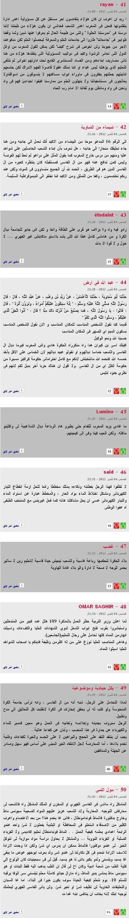 Réactions des marocains envers la nomination de ALi Fassi Ali510