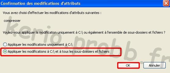 Gagner de l'espace disque sous Windows XP Compre11