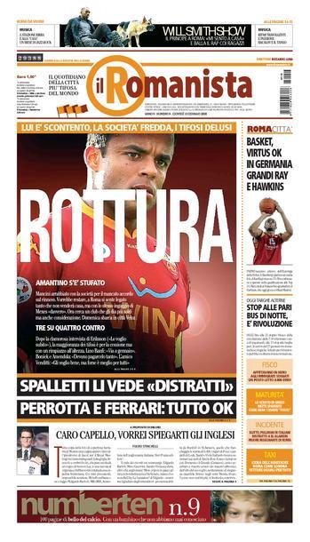 Le quotidien Il Romanista © Rm100110