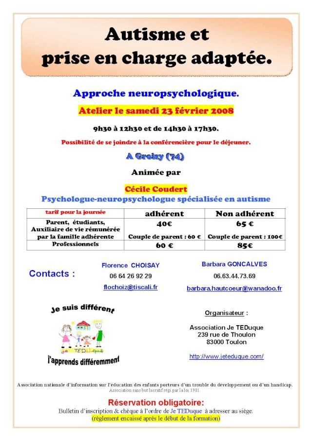 """dp74 : """"autisme et prise en charge adaptée"""" 02_20010"""
