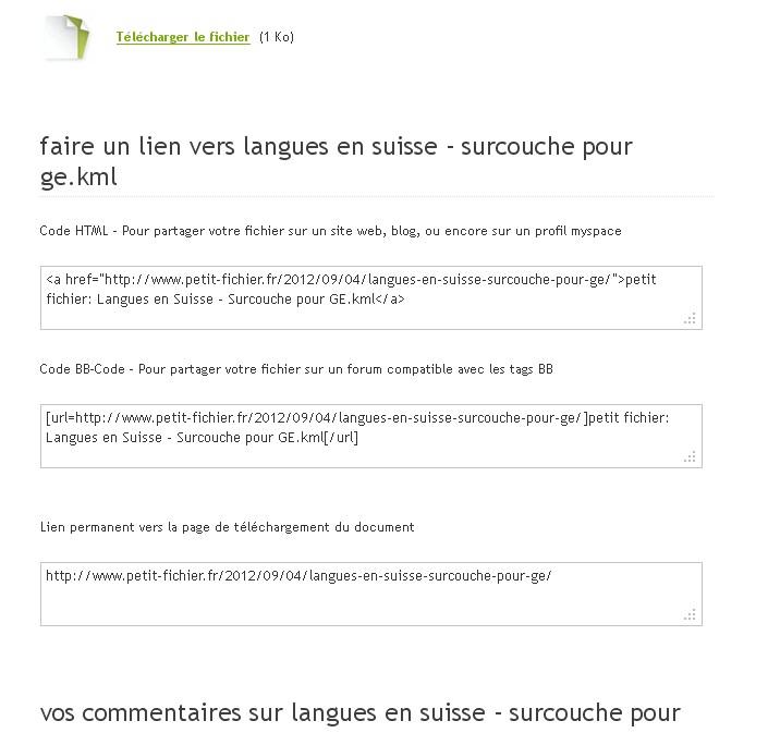 """TUTORIEL : héberger un fichier KML/KMZ en 2 clics avec """"petit-fichier.fr"""" Sans_162"""