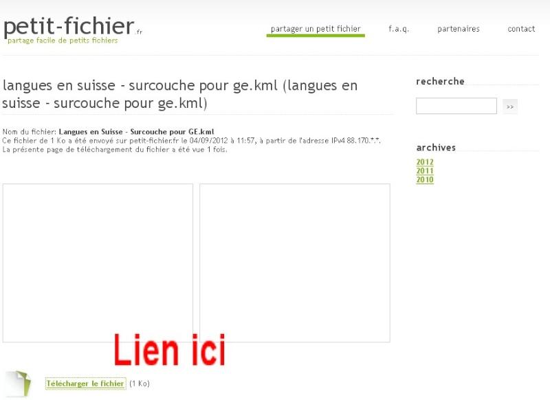 """TUTORIEL : héberger un fichier KML/KMZ en 2 clics avec """"petit-fichier.fr"""" Sans_164"""