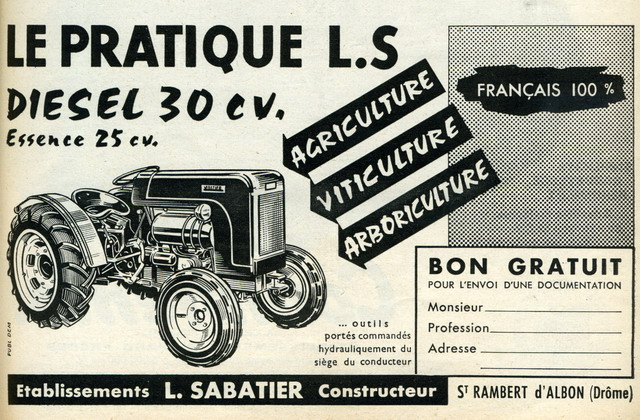 tracteur le pratique sabatier 025510