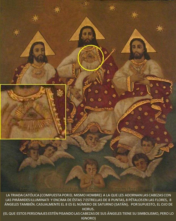 SÍMBOLOS LUCIFERIANOS EN LA RELIGIÓN Ojodeh15