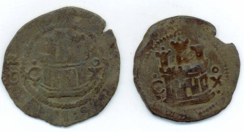 2 monedas de medio cuarto  Felipe II (Cuenca, 1577-1582 d.C) Fotogr10