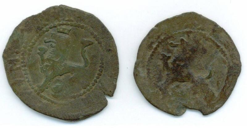 2 monedas de medio cuarto  Felipe II (Cuenca, 1577-1582 d.C) Fotogr11