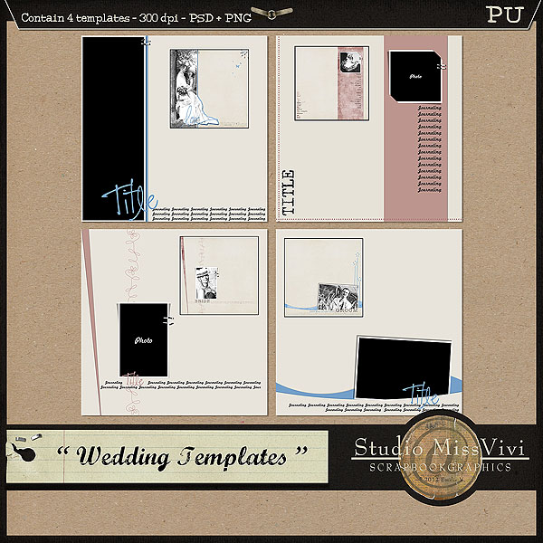 "{MissVivi} CU ""Bouquet"" et 4 ""Wedding Templates"" Missvi30"