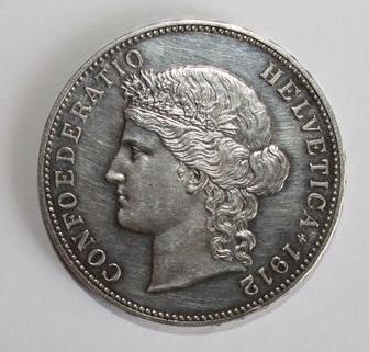 5 Francs. Suiza. 1912. Berna Img_1011