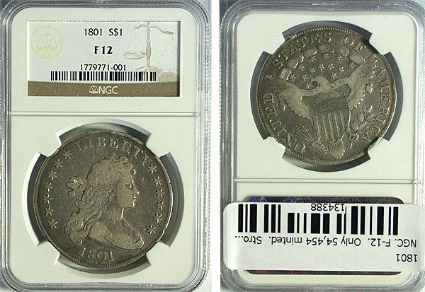 1 Dollar. U.S.A. 1801. Philadelphia Kgrhqz10