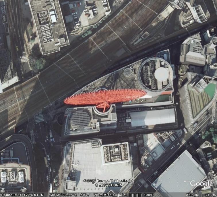 Grande roue sur toit d'Osaka - Japon Roue10