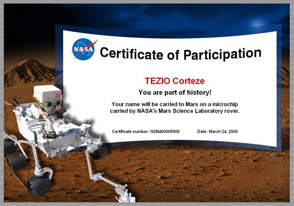 [Curiosity/MSL] Certificat de participation Tezio10
