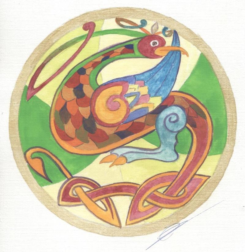 J'aime les entrelacs et autres dessins celtiques - Page 10 Oiseau10