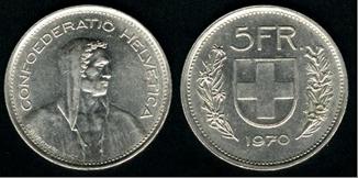 Símbolos e iconos de las monedas. Suiza_10